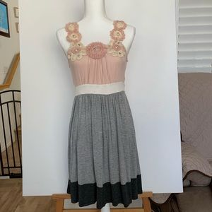 Pink and Gray Casual Dress.